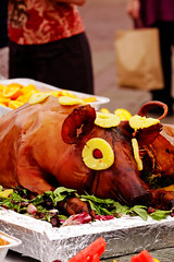 Roast Pig at a Filipino-American Festival, Downtown Missoula (CT Young) Tags: food festival montana picnic missoula filipino streetscenes gardencity filipinofood montna missoulamt missoulamontana downtownmissoula canonef70200mmf4lusm saturdayinmissoula