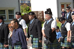 MacLarens during parade - Lochearnhead Games 23 July, 2011