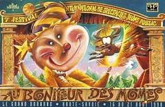 Affiche Festival Au Bonheur des Mômes-1998