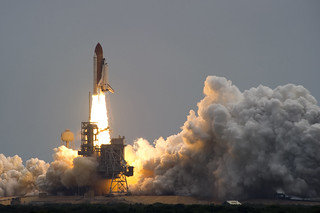 Space Shuttle Atlantis lifts off from Kennedy Space Center for the last time