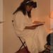 Doña Pepa leyendo su relato.