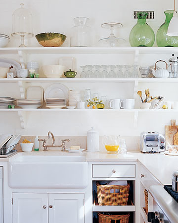 open shelving Martha Stewart Living