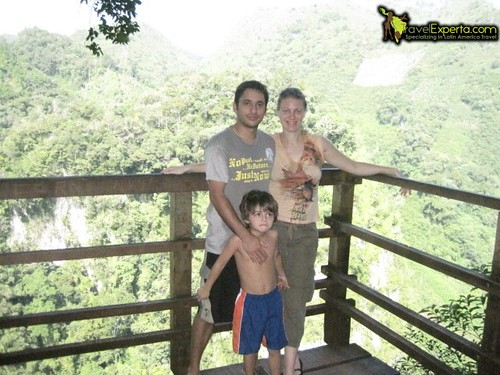 My Family at Semuc Champey Look Out