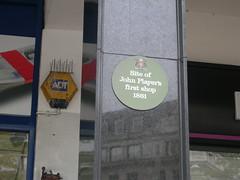 Photo of John Player green plaque