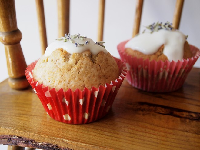 lavender cupcakes with yoghurt