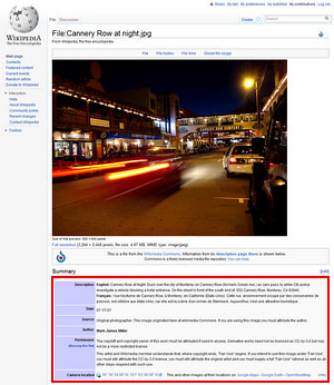 Using Wikipedia Images for Optimization
