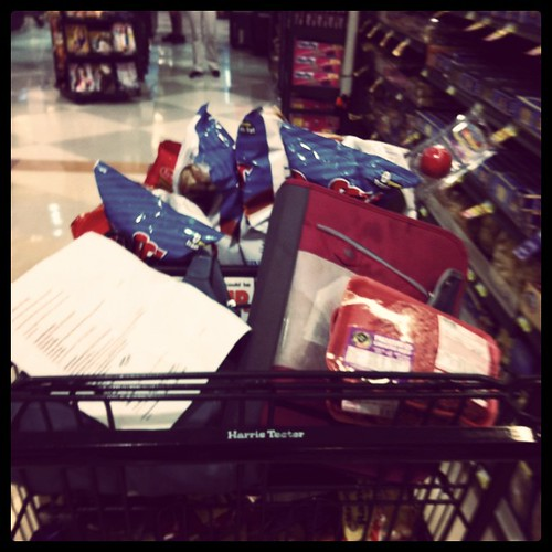 Wednesday: full grocery cart