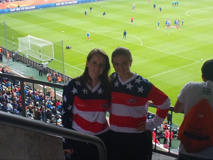 Marissa and Mac at the world cup