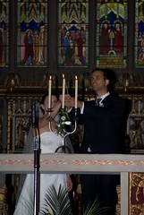 starting a new family flame (Reverend Sam) Tags: windows wedding church glass eva candles cathedral sheffield flames ceremony stainedglass rodrigo symbolic stmaries