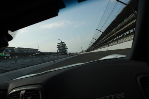 The front stretch at IMS