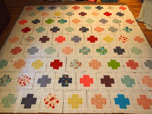 Modern Crosses Quilt from Modern Log Cabin Quilting