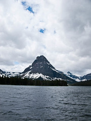 Two Medicine Lake (fritzmb) Tags: park usa mountain lake snow nature public water landscape nationalpark montana glaciernationalpark sourcefritzmb