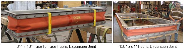 Expansion Joints Fabricated with Reinforced Silicone Material