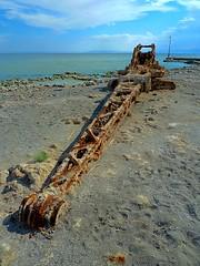When Nature Strikes First (Fairlane221) Tags: california ca abandoned beach rust crane decay rusty saltonsea excavator steamshovel bombaybeach