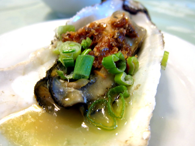 Steamed Oyster with XO Sauce