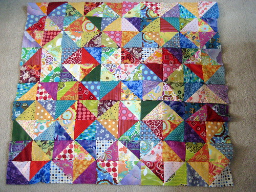Warm/Cool QAL Baby Quilt - Quilt Top