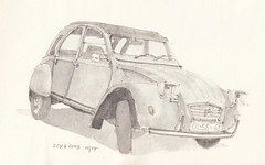 2CV6 Club (Flaf) Tags: auto old urban colour water car club pencil drawing lisboa lisbon estrela citroen deux 2cv florian ente symposium freie chevaux sketchers lapa automobil deuche afflerbach zeichnerei