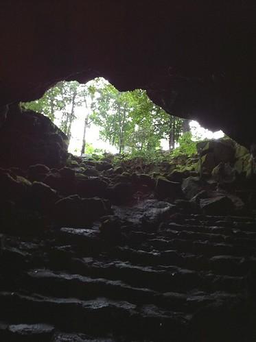 駒門風穴の出口