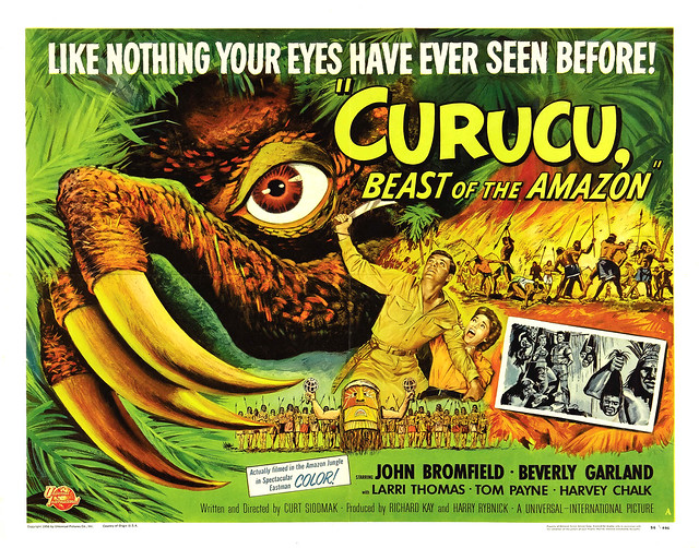 Reynold Brown - Curucu, Beast of the Amazon (Universal International, 1956) half sheet