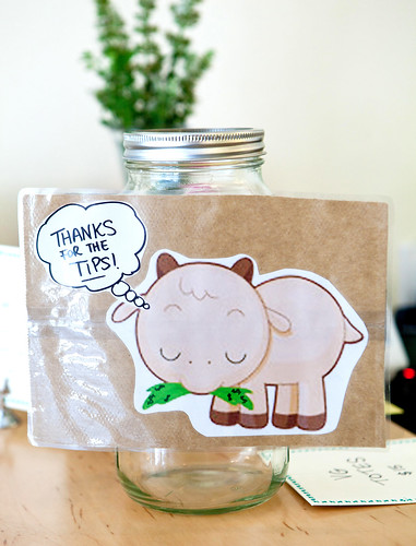 Cute tip jar