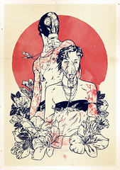 After All (Hafaell) Tags: flowers red tattoo illustration couple future gasmask postapocalypse hafaell