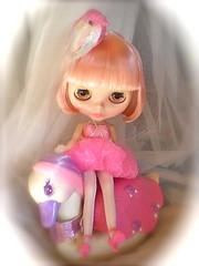 Moineau (teddy&balocchi) Tags: pink stella haircut bird hair toy toys outfit doll handmade cut ss radiance bob phoebe 80s maybe blythe savannah pm takara tutu tomy moineau keypers rbl traslucent misterbuffe