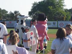 Cow, Shrimp and Forrest Gump Impersonator