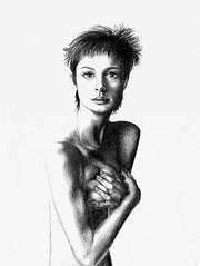 Il seno è mio e lo gestisco io...  :-) (AKU ㋛) Tags: portrait art nude erotic drawing draw nudeart chiaroscuro matita disegno nudo eroticart nudoartistico disegnoamatita disegnomatita