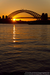 Sydney Harbour Bridge, Balmain, Sydney, NSW, Australia (Bass Photography) Tags: water sunrise harbor sydney australia nsw harbourbridge balmain sydneyharbourbridge leichhardt