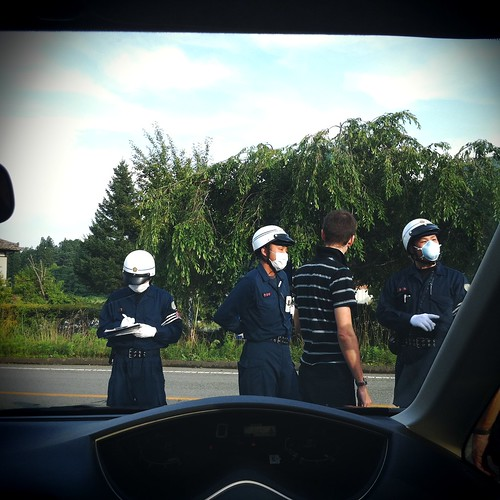 Speaking with the officers