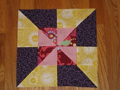 Sew Bee Blissful, Aug block #1