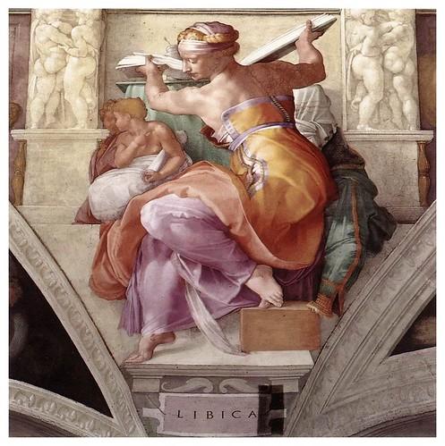 010-Sibila Libica pintada por Miguel Angel en la Capilla Sixtina