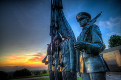 Air Force Memorial ((Alex) It's my whole damn raison d'etre!) Tags: usa alex arlington sunrise dawn virginia nikon memorial force air statues va hdr d300s erkiletian yahoo:yourpictures=sculptures