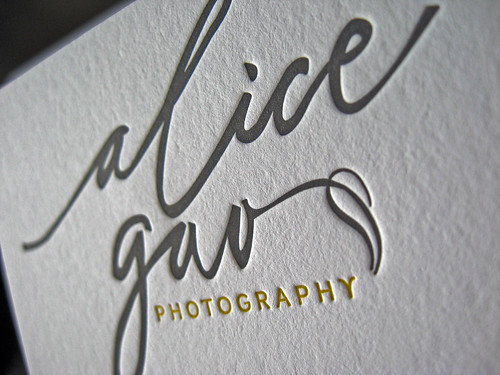 Alice gao letterpress cards dolce press alica gao business cards reheart Gallery