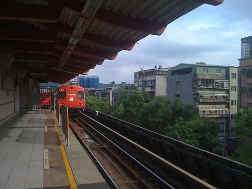 MRT。canon彩繪列車(淡水線)
