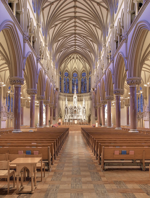 Saint Francis Xavier Church, in Saint Louis, Missouri, USA - nave