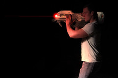 Halo NICK (Gerardofegan) Tags: light red man night canon key glow time low halo beam cannon laser rocket reach egan charge gerard lazer spartan launcher speedlite arbiter 60d odst