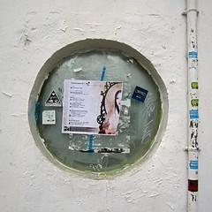 streets of valencia (maximorgana) Tags: valencia fotosencadenadas poster mirror sticker o virgin tuberia codo codera agarradera