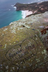True Love (Mister T') Tags: africa love beach rock southafrica graffiti seaside capetown capepoint