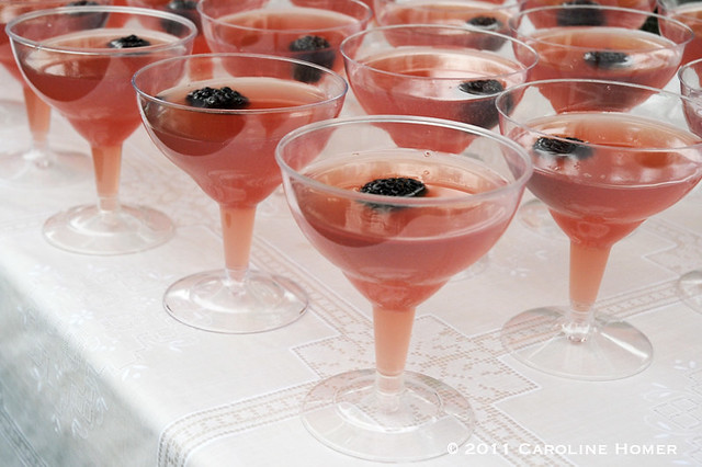 Blackberry Punch cocktails