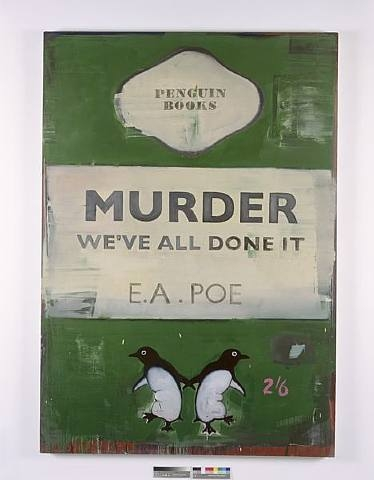 Harland Miller, Murder - We've All Done It, 2007, oil on canvas