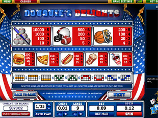 free Douguie's Delights slot game paytable