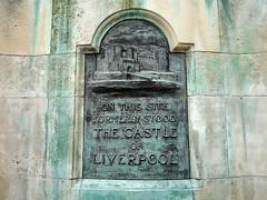 Photo of Castle of Liverpool black plaque