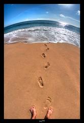 Les Pieds dans le sable, les yeux dans l'eau... ('^_^ Damail Nobre ^_^') Tags: voyage fish france color art love portugal nature canon word french fun photography photo reflex eyes europe photographie picture 7d franais hdr francais photographe dfn damail borderfx wwwdamailfr