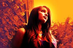 Andrea (austinfoose) Tags: red sky orange fall love girl yellow photoshop rainbow eyes nikon peace looking earth andrea connecticut calm foliage gradient teenager hippie fade serene spiritual d3100