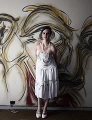 3375 (**) Tags: woman abandoned graffiti hotel donna dress empty femme mulher vestido romantica abandonado vazio letcia abbandonato vestito emptyplaces emptyhotel