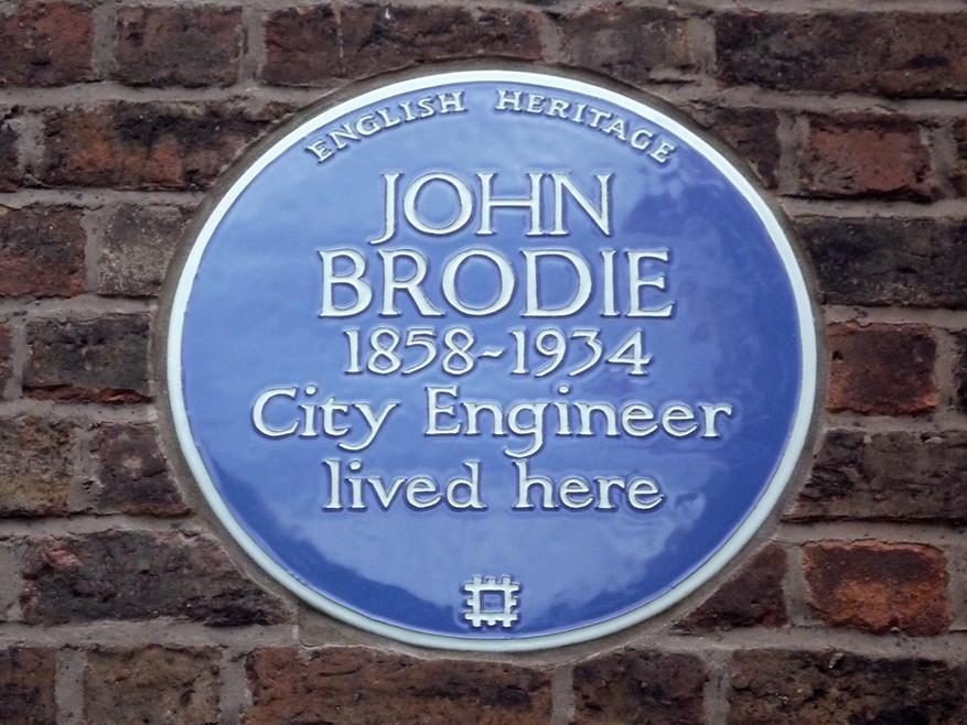 Photo of John Brodie blue plaque