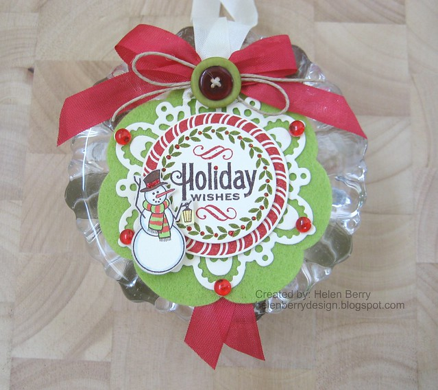 Holiday Wishes Tag Ornament