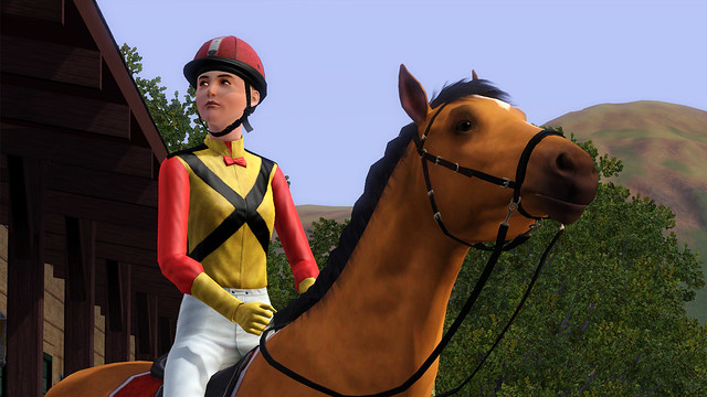 The Sims 3 Pets Horse and Jockey