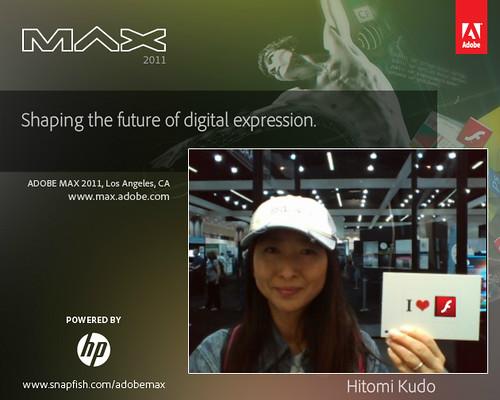 Hitomi Kudo (@hkudo) at Adobe MAX 2011 #AdobeMAX